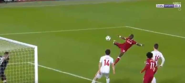 Mané a marqué le but de la journée. beINSports