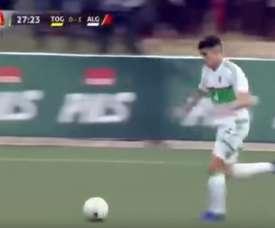 Attal tiró de clase y potencia para hacer el segundo de Argelia. beINSports