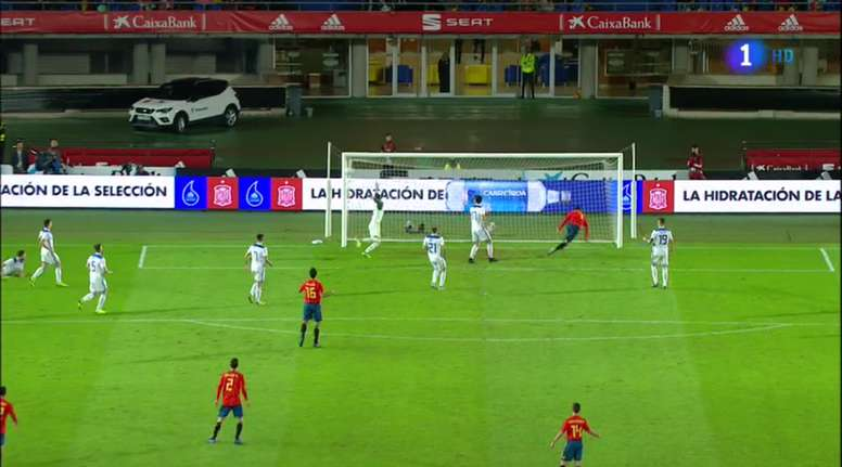 Morata se superó a sí mismo ante Bosnia. TVE