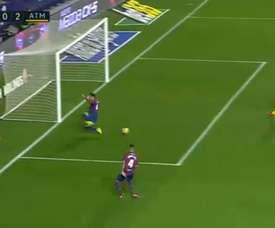 Levante a commencé mal et ne finit pas bien cette première période face à l'Atlético. beINSports