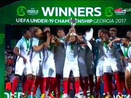Inglaterra ha ganado el Europeo Sub 19. Twitter/Eurosport