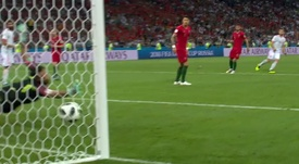 Nacho drilled home to give Spain the lead. Screenshot