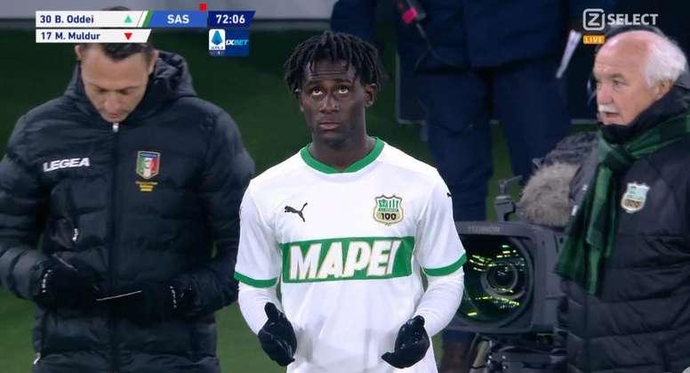 Brian Oddei debutó nada menos que ante la Juventus. Captura/ZSelect