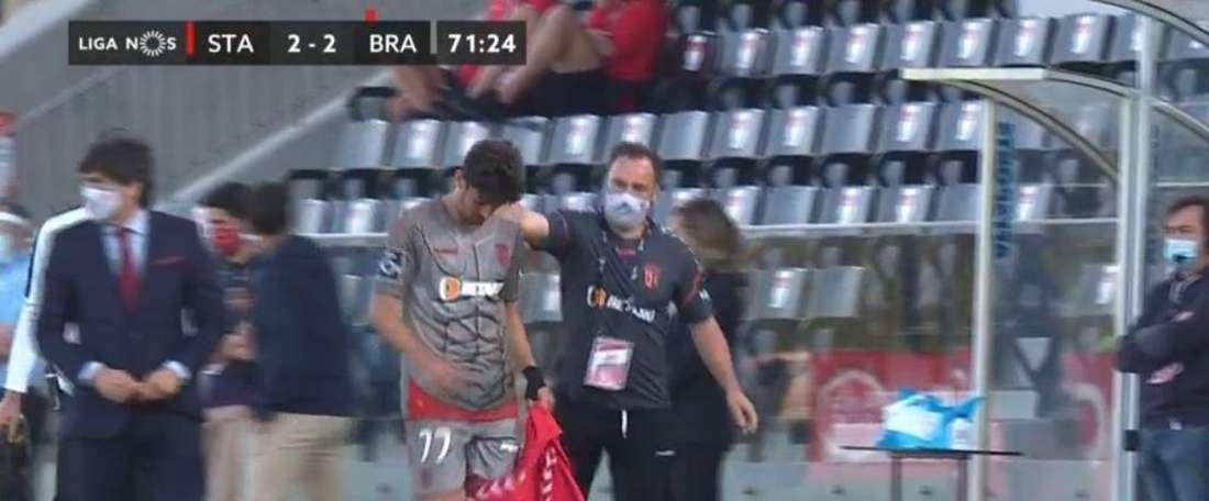 Trincao hizo un partidazo, pero no pudo celebrar la victoria. SportTV1