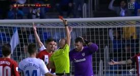 Herrerín comprometió al Athletic con su acción. DAZN