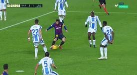 Messi parachève une action sublime avec Jordi Alba. Movistar+