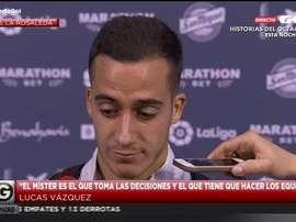 Lucas Vázquez falou aos meios de comunicação. Gol
