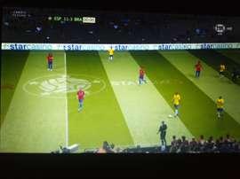 España ha humillado gravemente a Brasil. Twitter/FoxSports