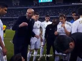 Le discours de Zidane avant la prolongation contre l'Atlético. Vamos
