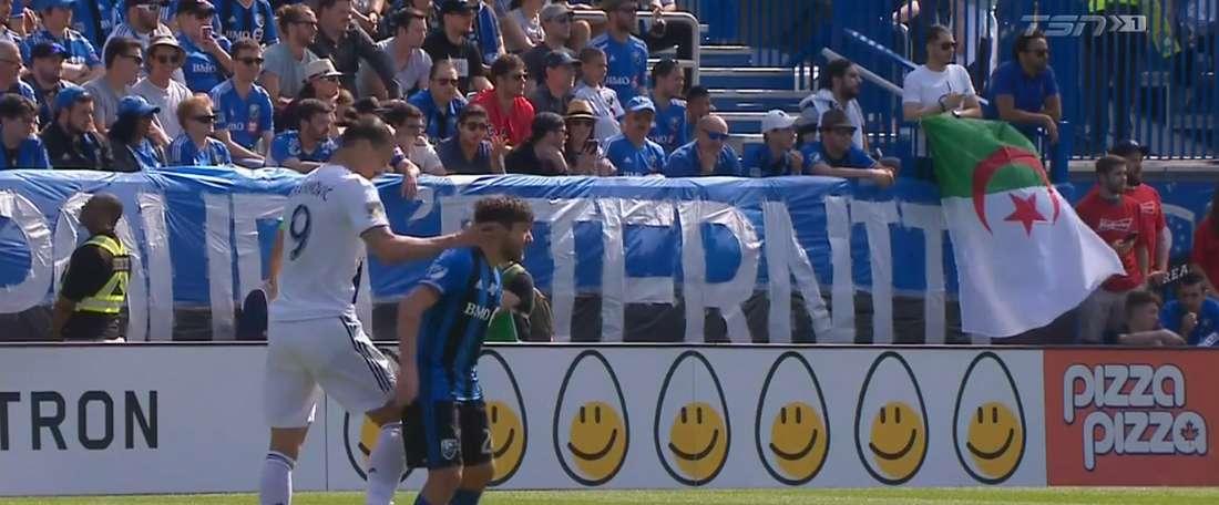 Ibrahimovic a donné une claque à l'adversaire. TSN