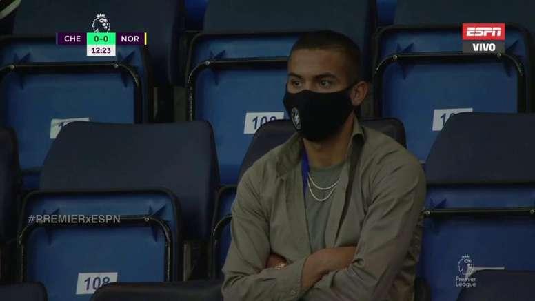 Ziyech was at the Chelsea match. ESPN