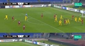 Il primo gol di Calafiori con la Roma. Movistar+