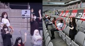 Las muñecas sexuales fueron el público en el Seoul-Gwangju. Capturas/Twitter/WhoAteTheSquid