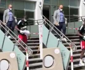 Kouassi est arrivé à Munich pour passer sa visite médicale. Twitter/BILD_Bayern