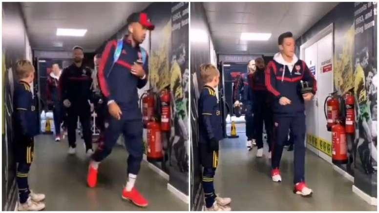 Los jugadores del Arsenal pasaron del aficionado de 10 años. Instagram/norwichcityfc