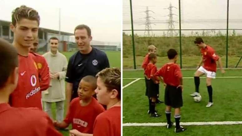 Ronaldo insegna i dribbling a Lingard. Manchester United