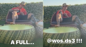Messi showed how he relaxed on Tuesday. Instagram/LeoMessi