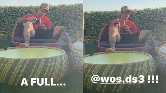 Messi relaxa com mate ao ritmo de Wos. Instagram/LeoMessi
