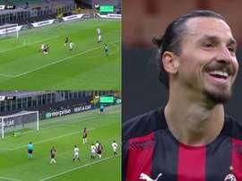 Ibrahimovic sbaglia il rigore. MovistarLigadeCampeones