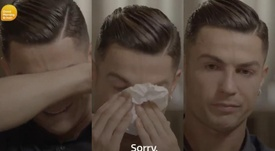 Cristiano could not avoid crying when talking about his late father. Captura/GMB