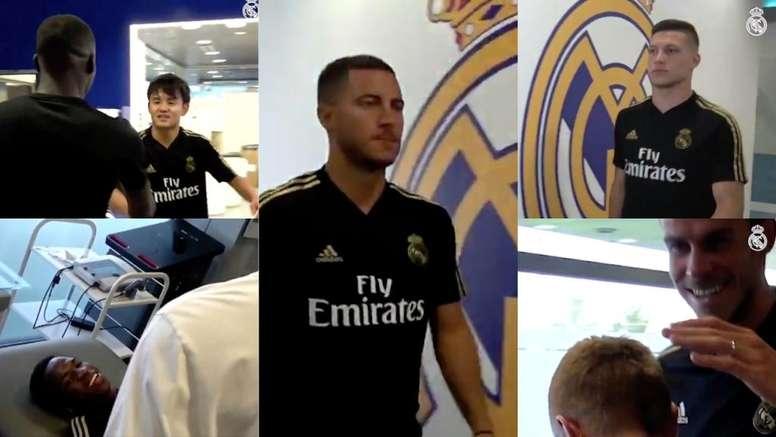 Começou a pré-temporada do Real Madrid. Captura/RealMadrid