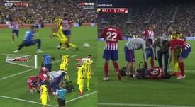 Diego Costa quitte la saison en se tordant la cheville. Captura/GOLTV