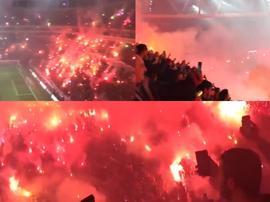 Más de 40.000 personas apoyaron al Galatasaray. Captura/GalatasaraySK