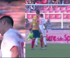 Dybala a prolongé sa bonne forme mais Lecce a répondu. Capture/Movistar