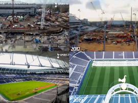 Ainsi s'est construit le stade de Tottenham. Capture/TottenhamHotspur
