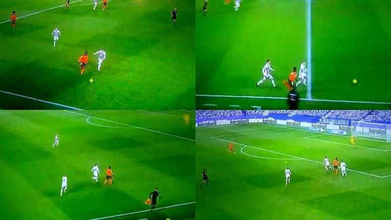 Musah emuló a Gareth Bale. Captura/Movistar