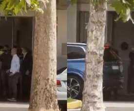 Achraf is in Milan. Screenshot/tvdellosport