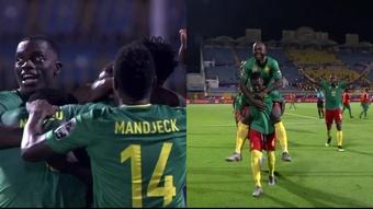 El error y la suerte permitieron el doblete de Camerún en tres minutos, Captura/FoxSports