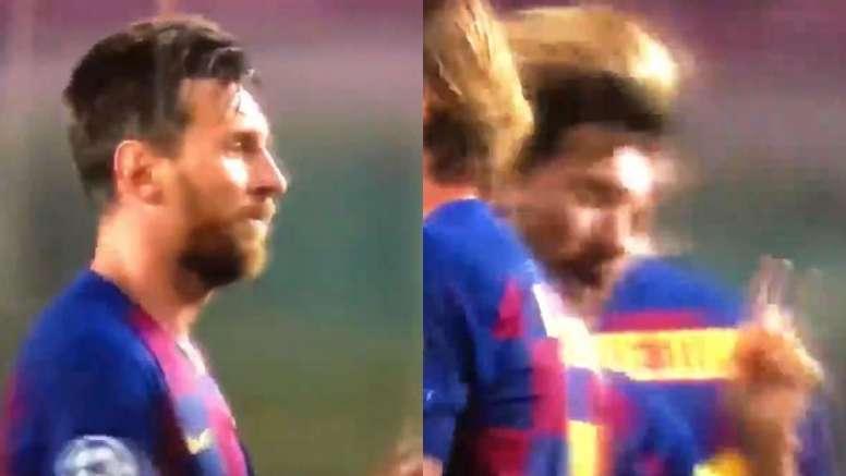 Messi le negó el saludo a Çakir al final del partido. Captura/MovistarLigadeCampeones