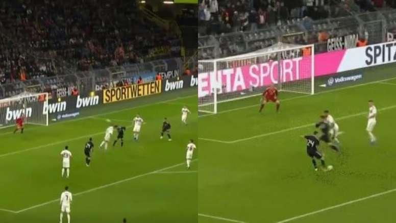 Alario entró por Dybala y tardó cuatro minutos en marcar. Capturas/Cuatro