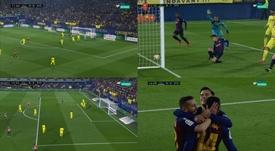 Le but de Coutinho et Malcom. Capture/beINSports