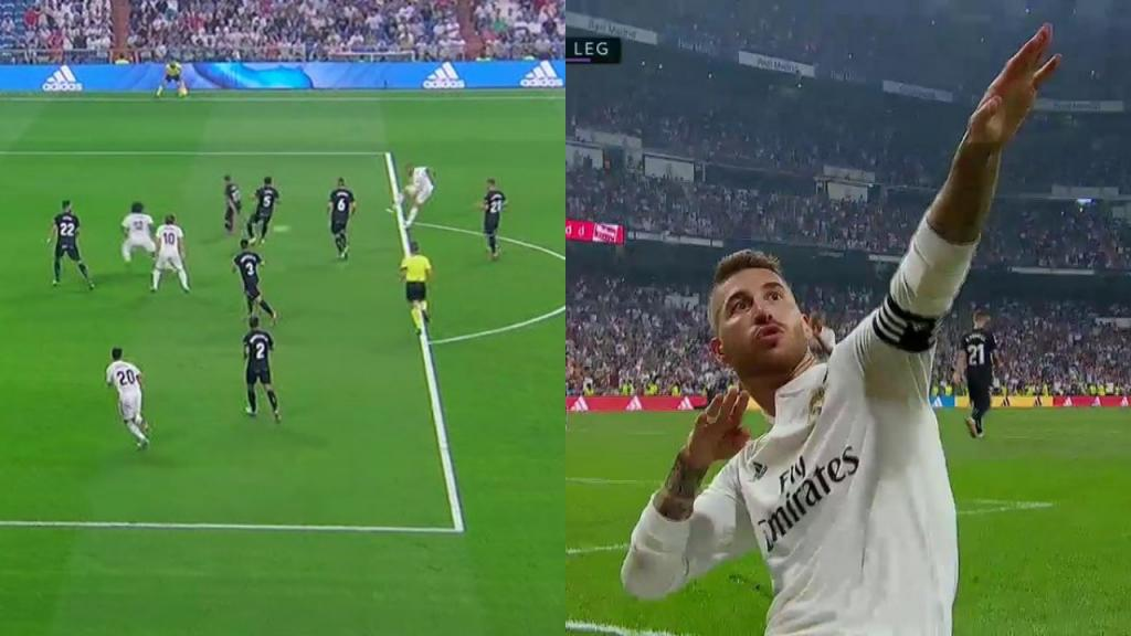 Pin Benzema et Ramos ont plié le match. Captures/Movistar