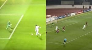 Lewandowski hit two early goals in Latvia. Captura/Youtube