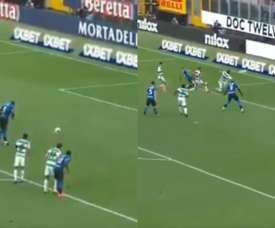 Inter turned it round against Sassuolo. Capturas/Movistar+
