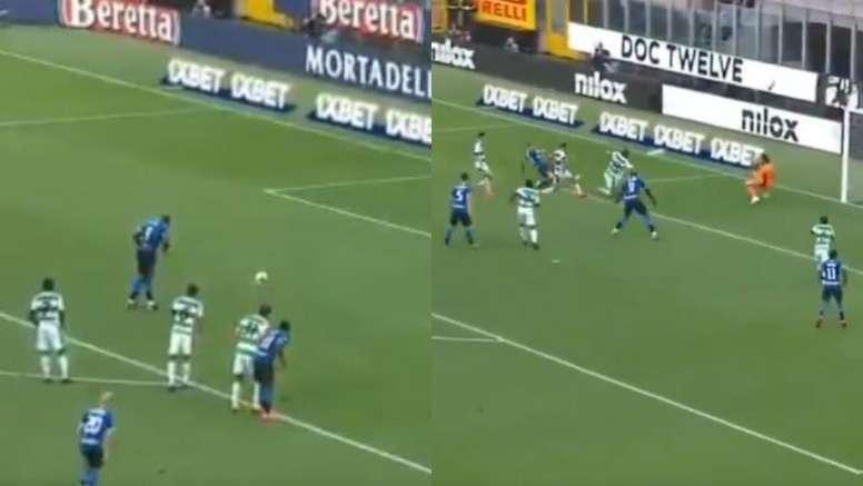 Lukaku y Biraghi, con ayuda de Alexis, remontaron en cuatro minutos. Capturas/Movistar
