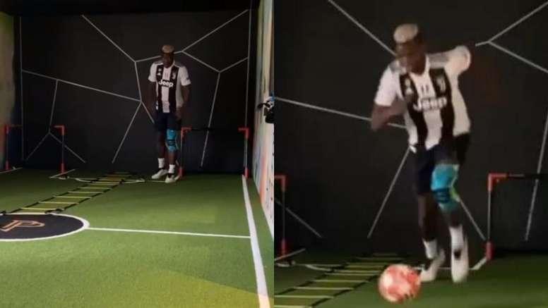 Pogba a mis le maillot de la Juve... pour Matuidi. Instagram/paulpogba