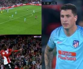 Gimenez's mistake was punished. Capturas/BEINSports