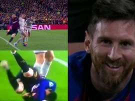 Milner estampó a Messi... y el '10' acabó a carcajadas. Capturas/BTSport