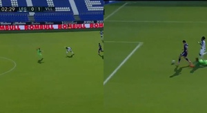 Leganés made a huge mistake. Screenshot/MovistarLaLiga