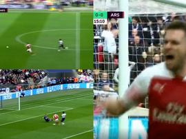 Ramsey a ouvert le score. Capture/RMCSports