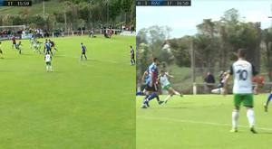 Barral asistió y Noguera marcó. Captura/Footters