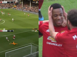 Martial signe le but du 0-2. Captures/NBC