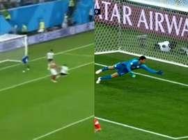 Ahmed Fathi scored an own goal in minute 47. Screenshot
