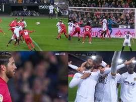 Le but de Garay qui tue le match face au Real Madrid. Capture/BeinSports