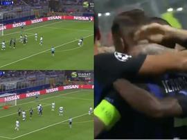 Icardi metió el gol del empate. Captura/Viasat