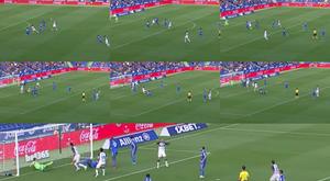 El 'charlotesco' gol de Joselu que valió para empatar. Captura/LaLiga